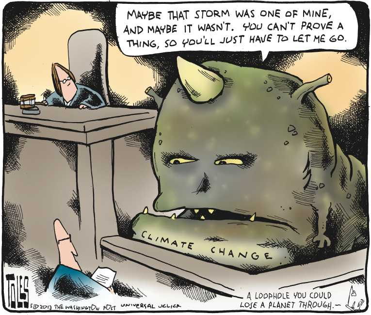 Tom Toles - Loophole to lose a Planet