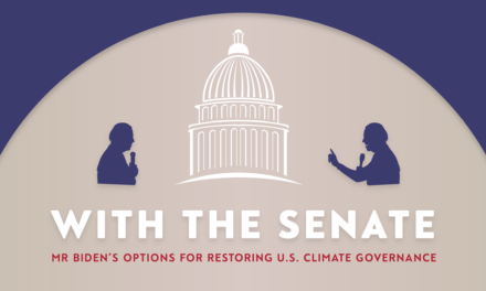 With the Senate: Biden's options to restore US climate governance